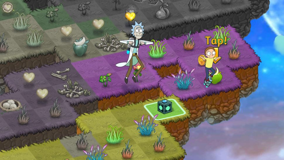 """Главные герои американского мультсериала """"Рик и Морти"""" стали героями мобильной головоломки Merge Dragons!"""